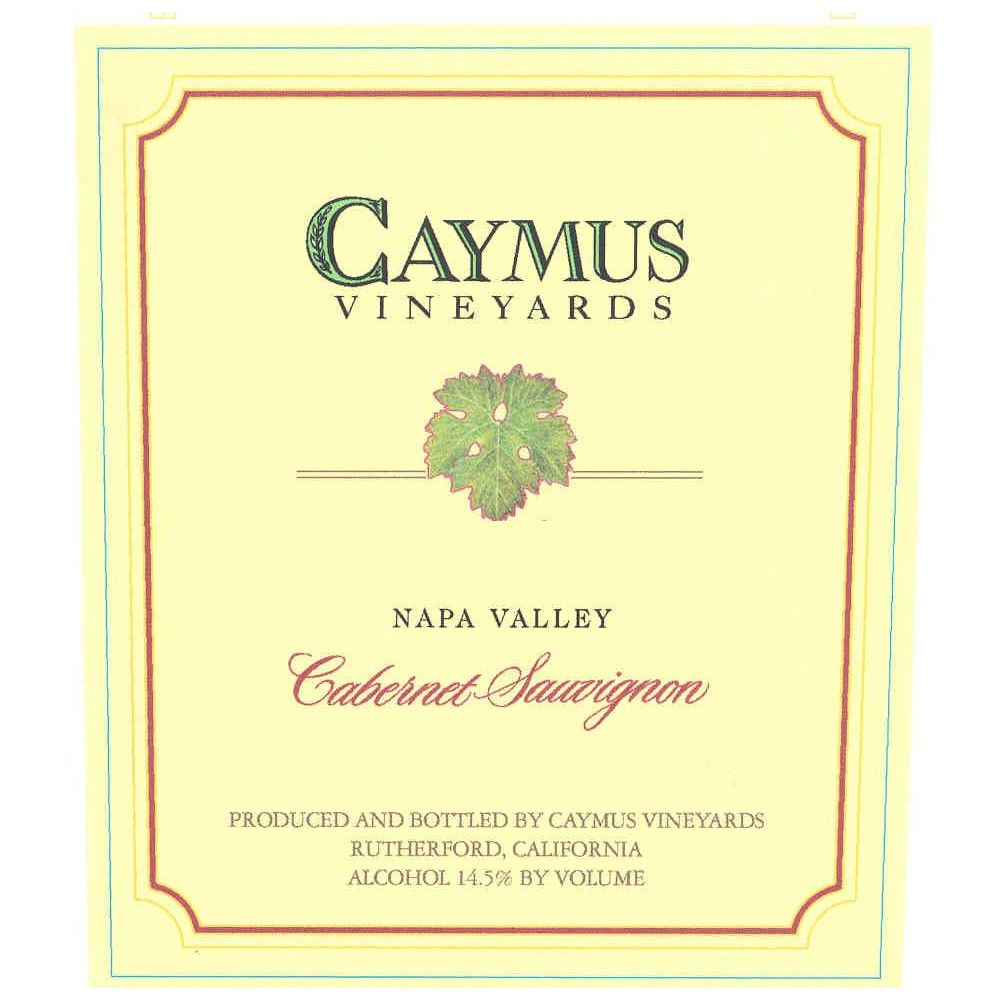 Caymus Napa Valley Cabernet Sauvignon 2004 Front Label