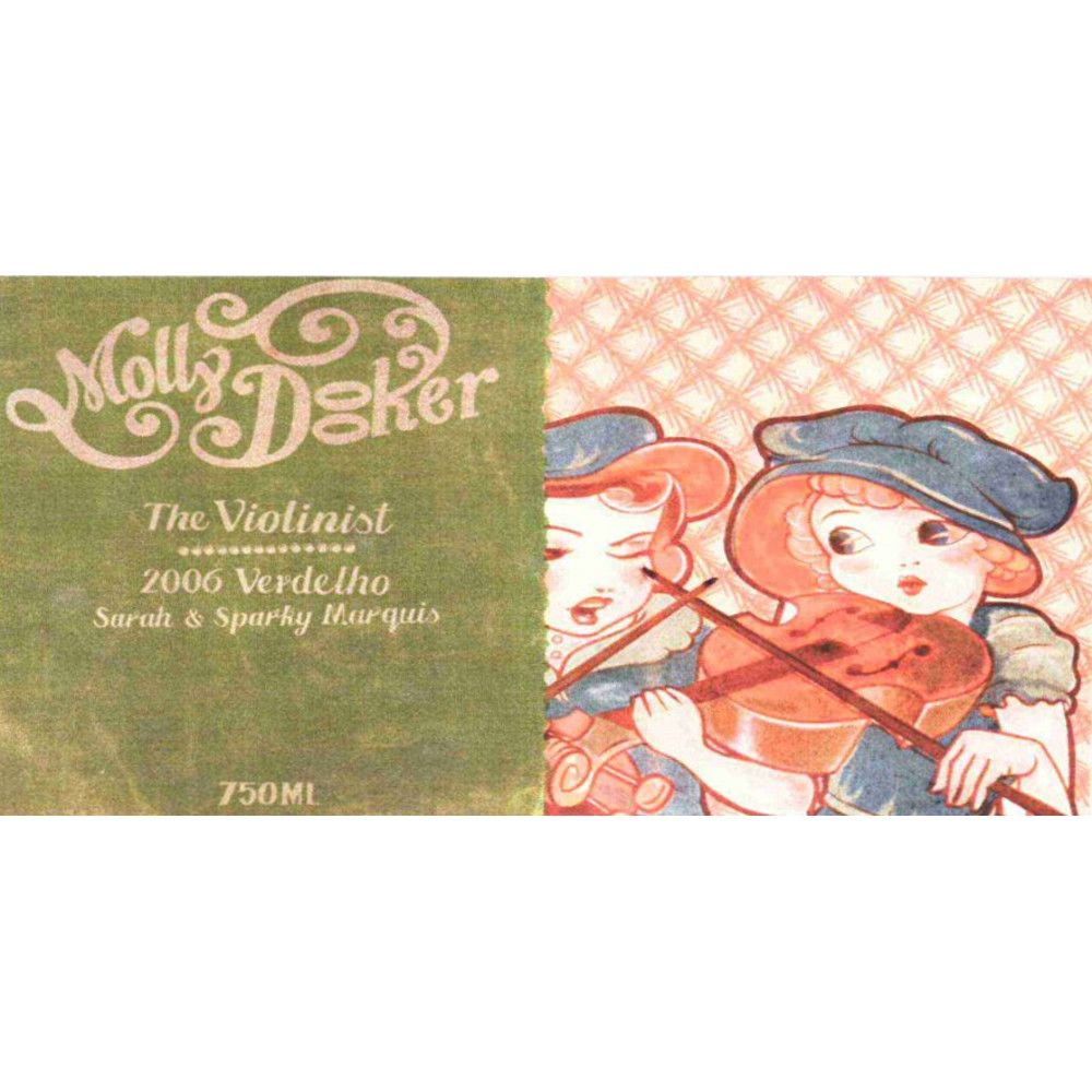Mollydooker The Violinist Verdelho 2006 Front Label