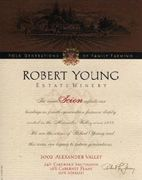 Robert Young Scion Estate Red 2002 Front Label