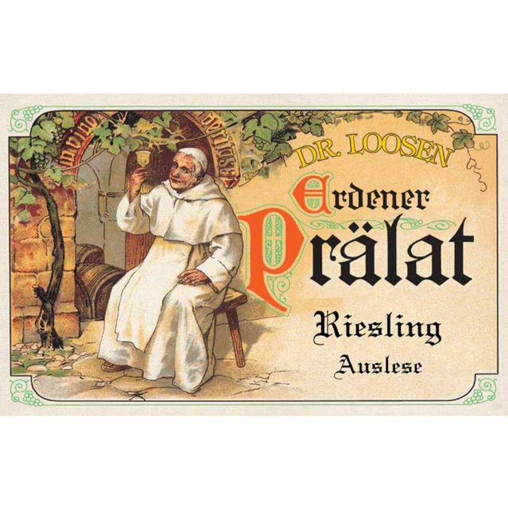 Dr. Loosen Erdener Pralat Auslese GK A P# 4002 (375ml half-bottle) 2001 Front Label