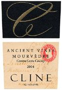 Cline Ancient Vines Mourvedre 2004 Front Label