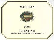 Maculan Brentino 2004 Front Label