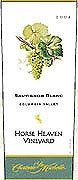 Chateau Ste. Michelle Horse Heaven Vineyard Sauvignon Blanc 2004 Front Label