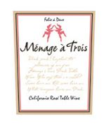Menage a Trois Red Blend 2005 Front Label