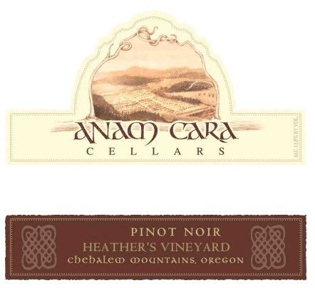 Anam Cara Heather's Vineyard Pinot Noir 2010 Front Label
