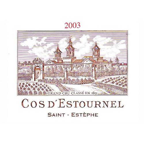 Chateau Cos d'Estournel  2003 Front Label