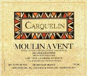Duboeuf Moulin A Vent Carquelin 2005 Front Label