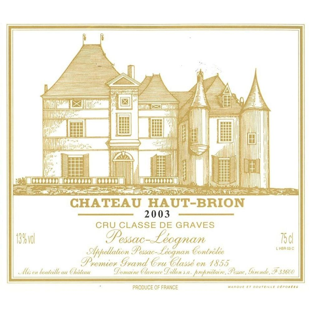 Chateau Haut-Brion  2003 Front Label