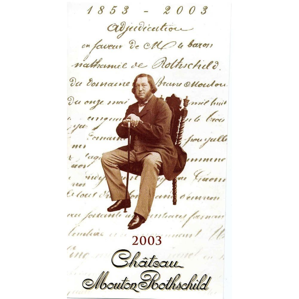 Chateau Mouton Rothschild  2003 Front Label