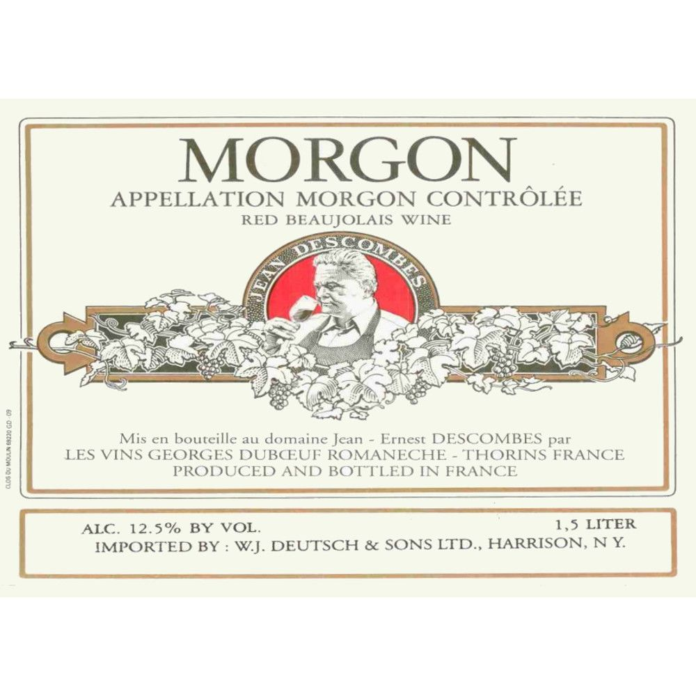 Duboeuf Morgon Jean-Ernest Descombes 2005 Front Label