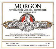 Duboeuf Morgon Jean-Ernest Descombes 2004 Front Label