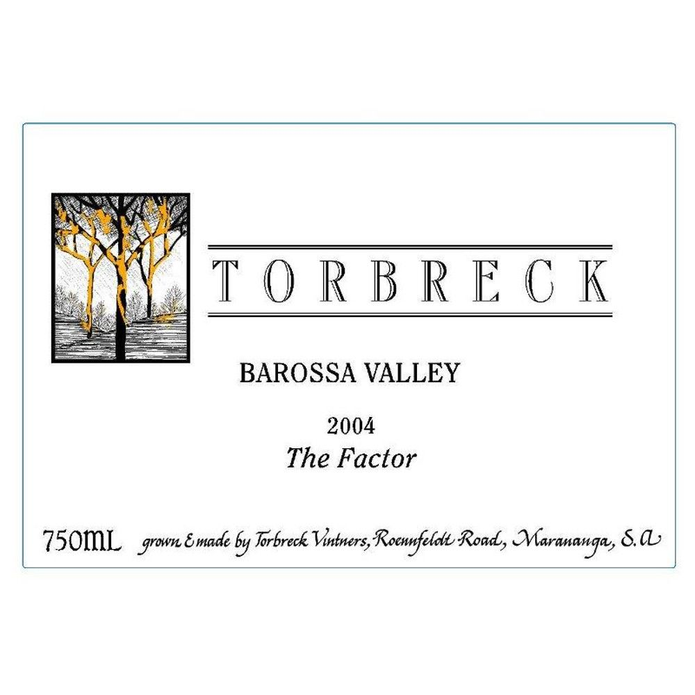 Torbreck The Factor Shiraz 2004 Front Label