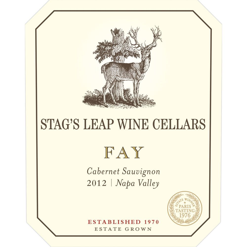 Stag's Leap Wine Cellars Fay Vineyard Cabernet Sauvignon 2012 Front Label