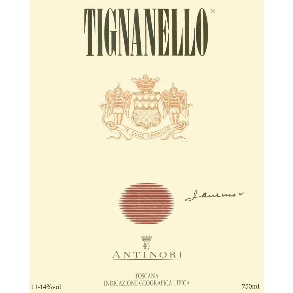 Antinori Tignanello 1996 Front Label