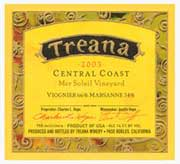 Treana Mer Soleil Vineyard Viognier-Marsanne 2003 Front Label