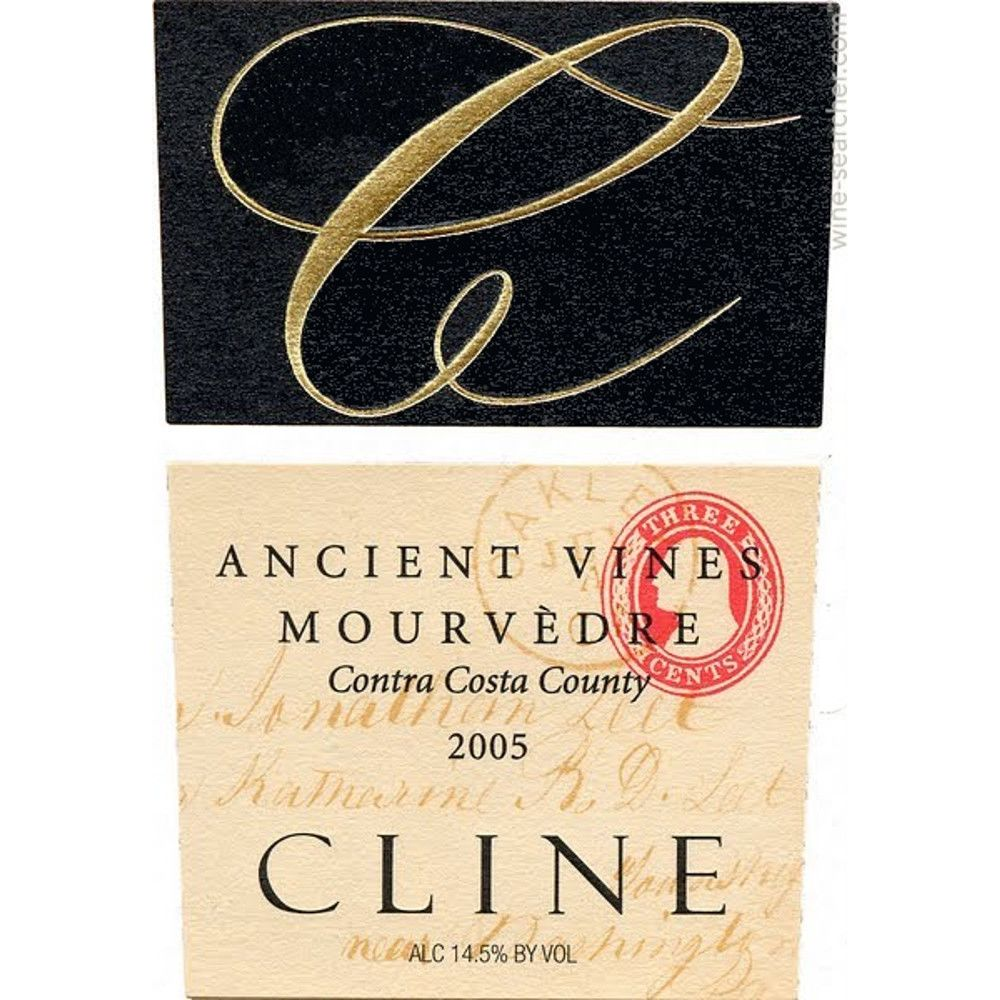 Cline Ancient Vines Mourvedre 2005 Front Label