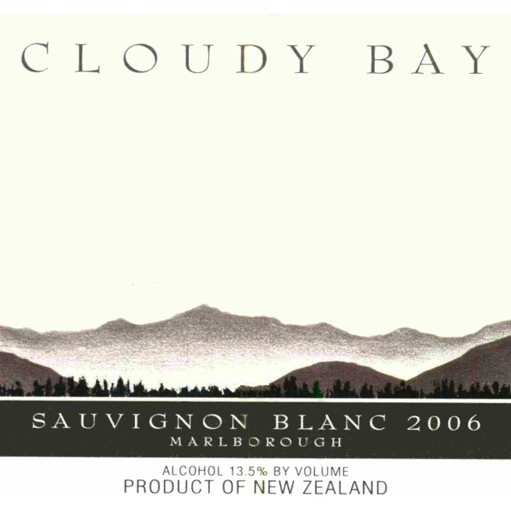 Cloudy Bay Sauvignon Blanc 2006 Front Label