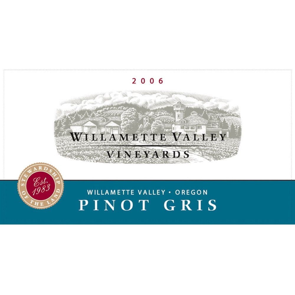Willamette Valley Vineyards Pinot Gris 2006 Front Label