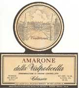 Bertani Amarone Classico 1999 Front Label