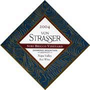Von Strasser Sori Bricco Vineyard Red 2004 Front Label