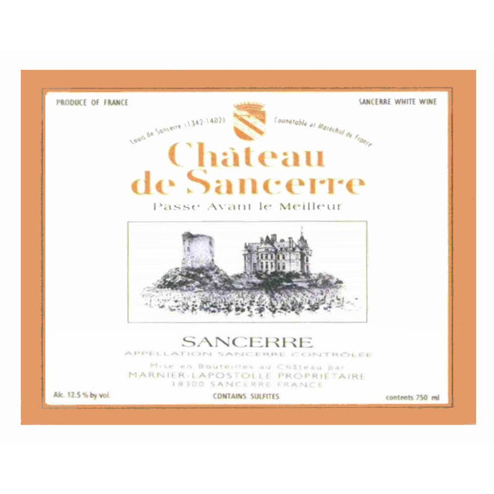Chateau de Sancerre Blanc 2005 Front Label