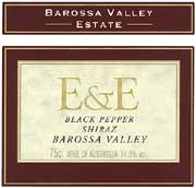 Barossa Valley Estate E&E Black Pepper Shiraz 2003 Front Label