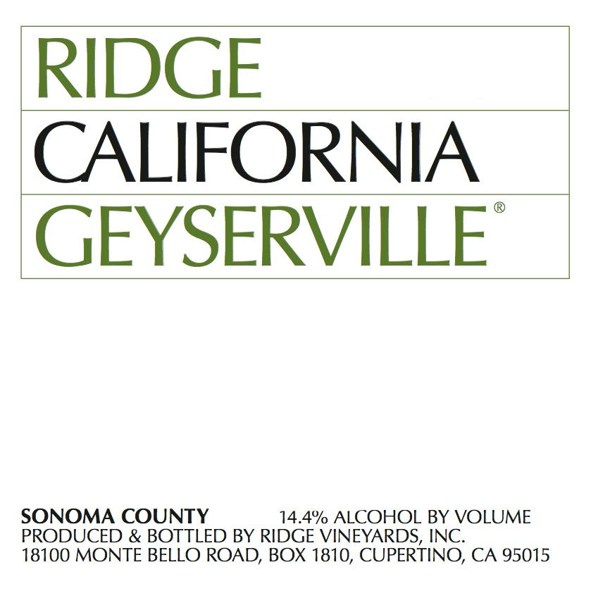 Ridge Geyserville 1994 Front Label