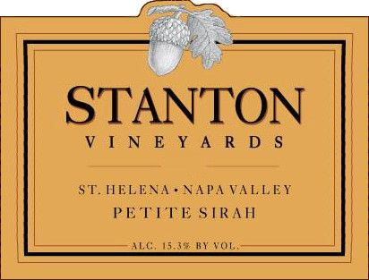 Stanton Vineyards St. Helena Petite Sirah 2009  Front Label