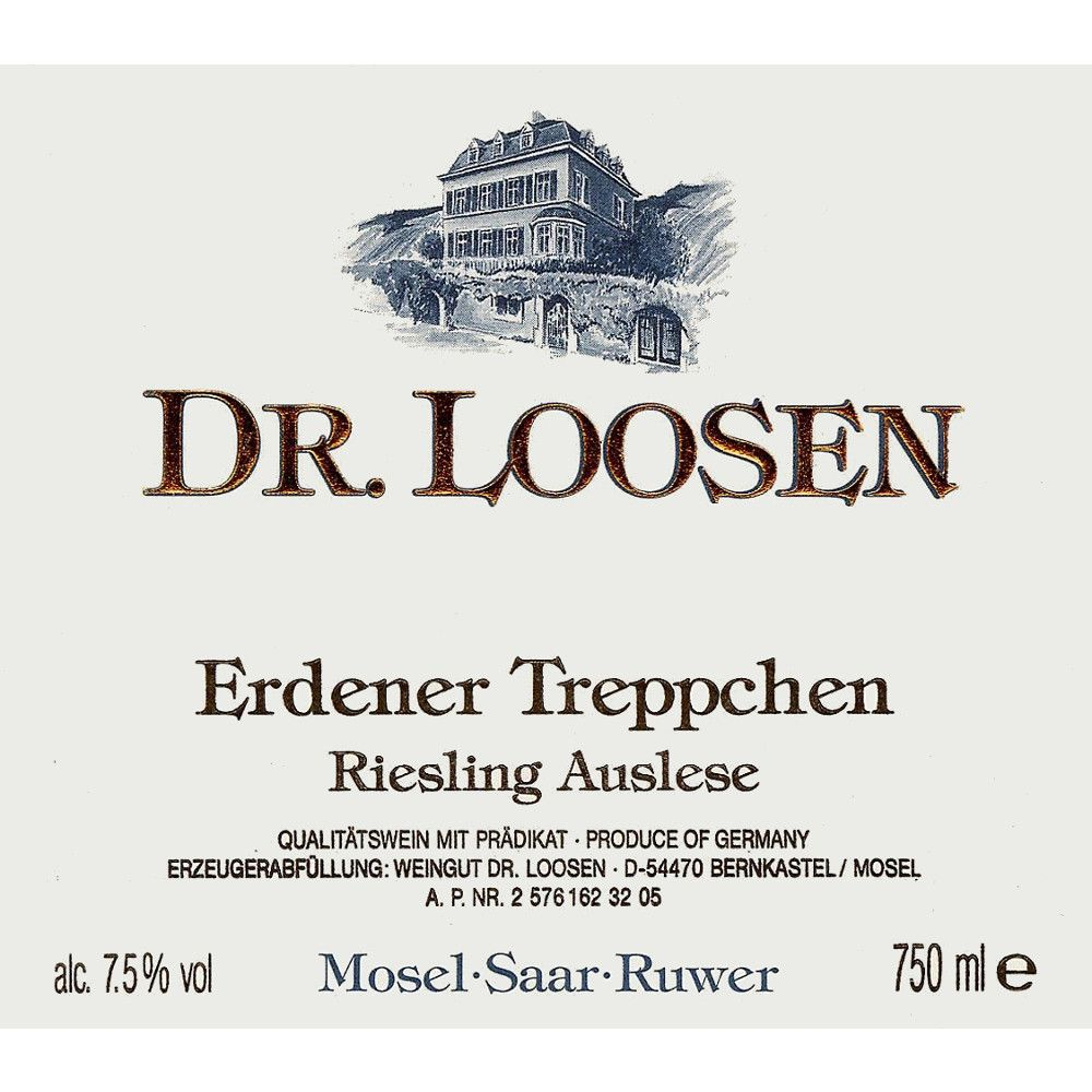 Dr. Loosen Erdener Treppchen Auslese (375ML half-bottle) 2005 Front Label