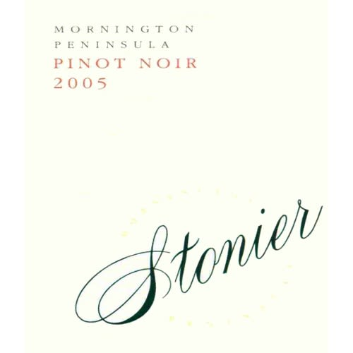 Stonier Pinot Noir 2005 Front Label
