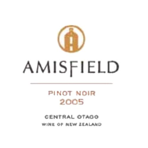 Amisfield Pinot Noir 2005 Front Label