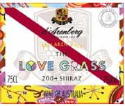 d'Arenberg The Love Grass Shiraz 2004 Front Label