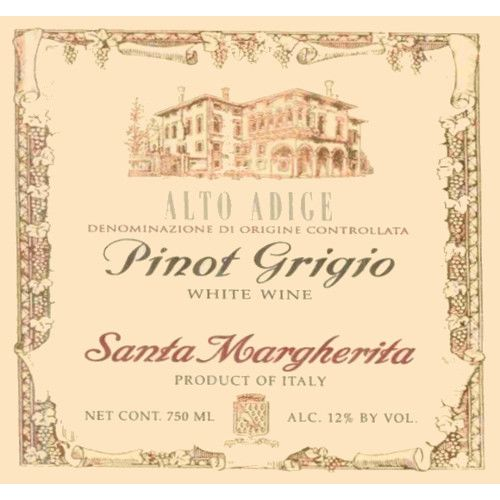 Santa Margherita Pinot Grigio (375ML half-bottle) 2005 Front Label