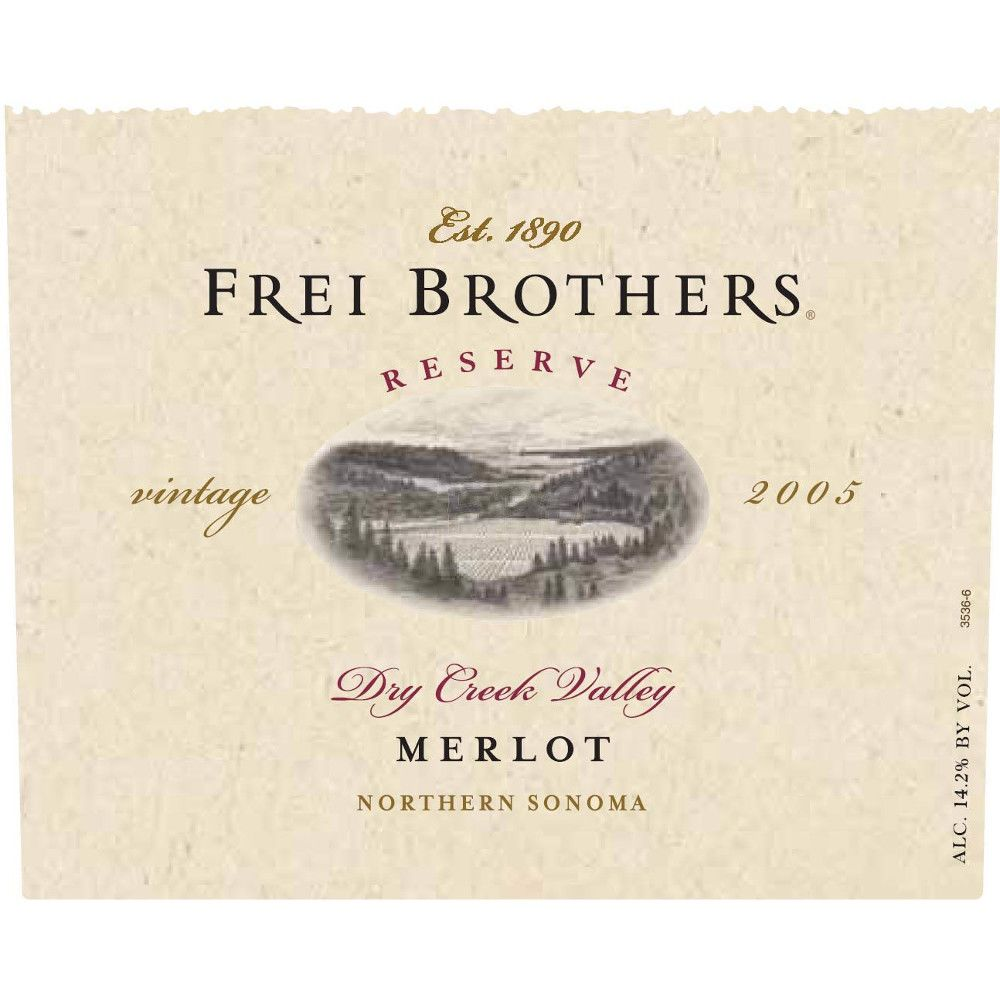 Frei Brothers Reserve Merlot 2005 Front Label