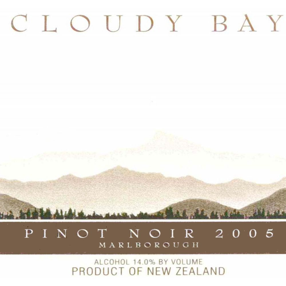 Cloudy Bay Pinot Noir 2005 Front Label