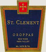 St. Clement Oroppas 2004 Front Label