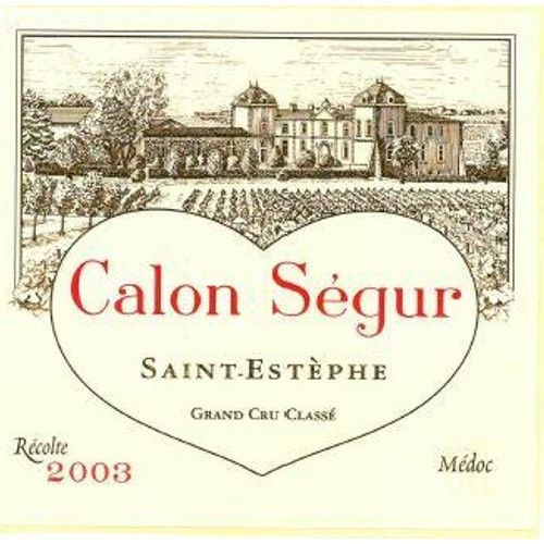 Chateau Calon-Segur  2003 Front Label