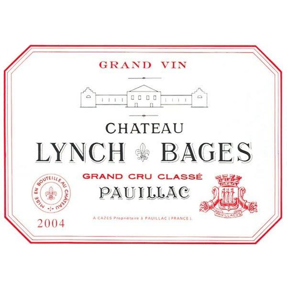 Chateau Lynch-Bages  2004 Front Label