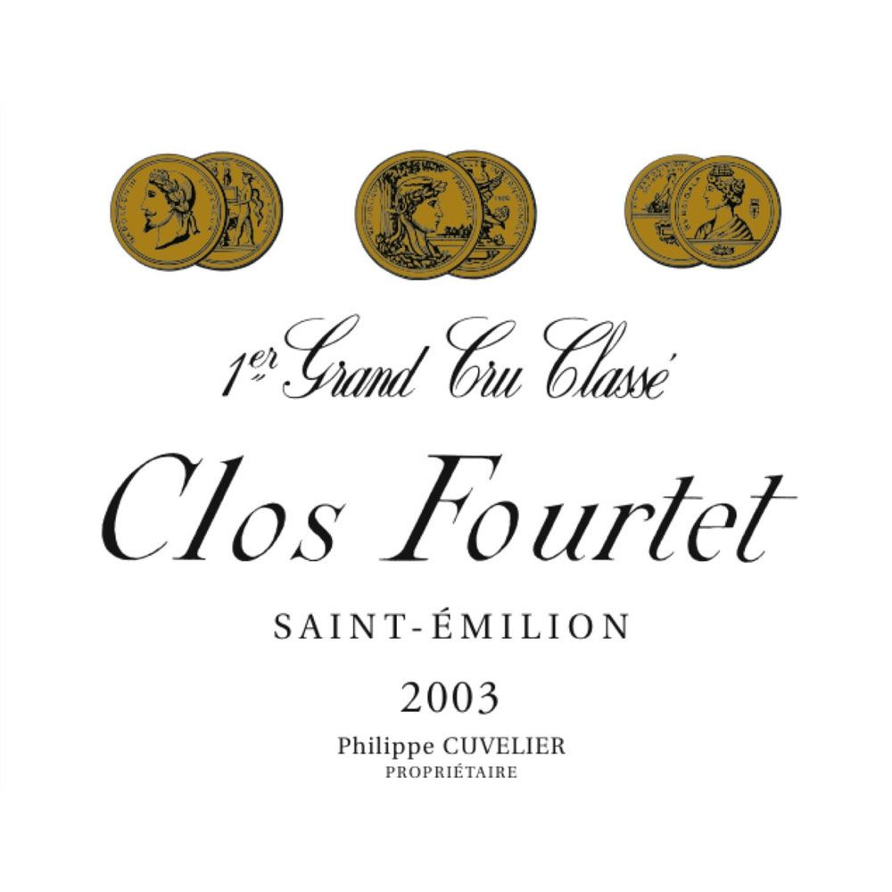 Clos Fourtet  2003 Front Label