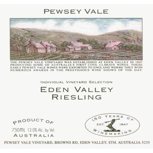 Pewsey Vale Eden Valley Riesling 2006 Front Label