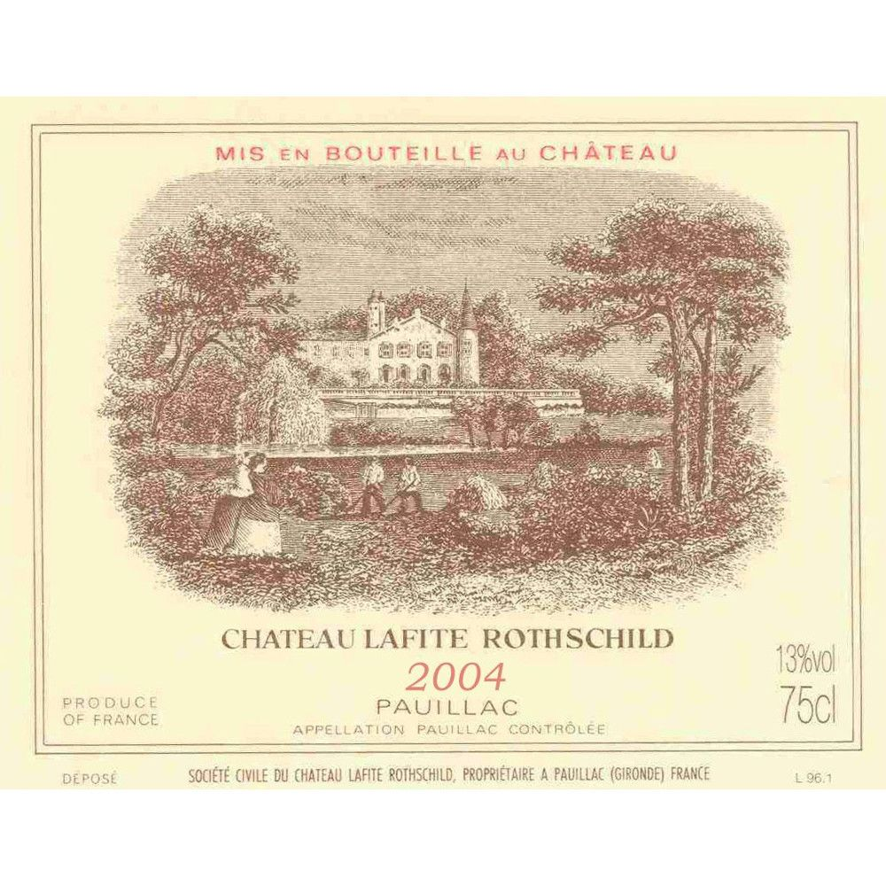 Chateau Lafite Rothschild  2004 Front Label