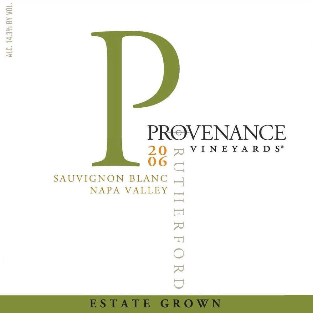 Provenance Vineyards Sauvignon Blanc 2006 Front Label