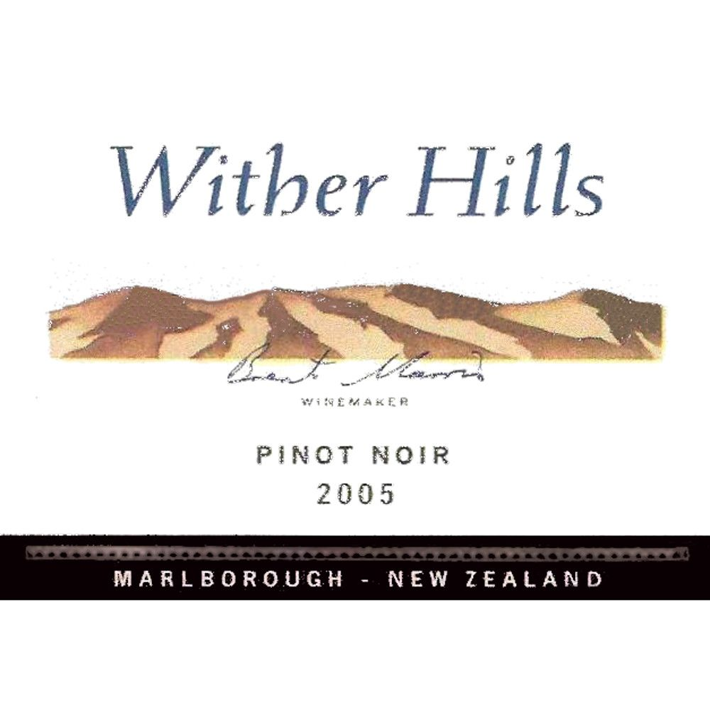 Wither Hills Pinot Noir 2005 Front Label