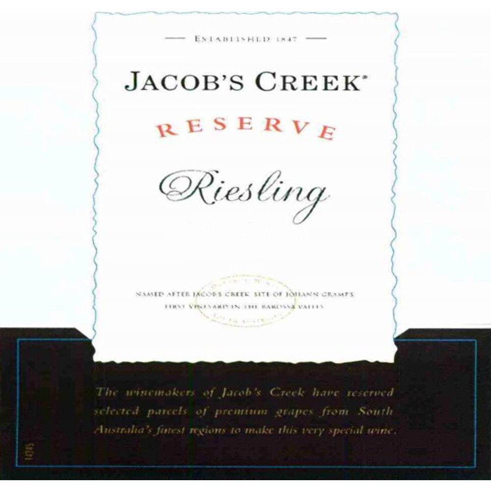 Jacob's Creek Reserve Riesling 2006 Front Label