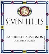 Seven Hills Winery Columbia Valley Cabernet Sauvignon 2004 Front Label