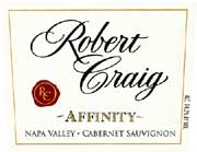 Robert Craig Cellars Affinity 2004 Front Label