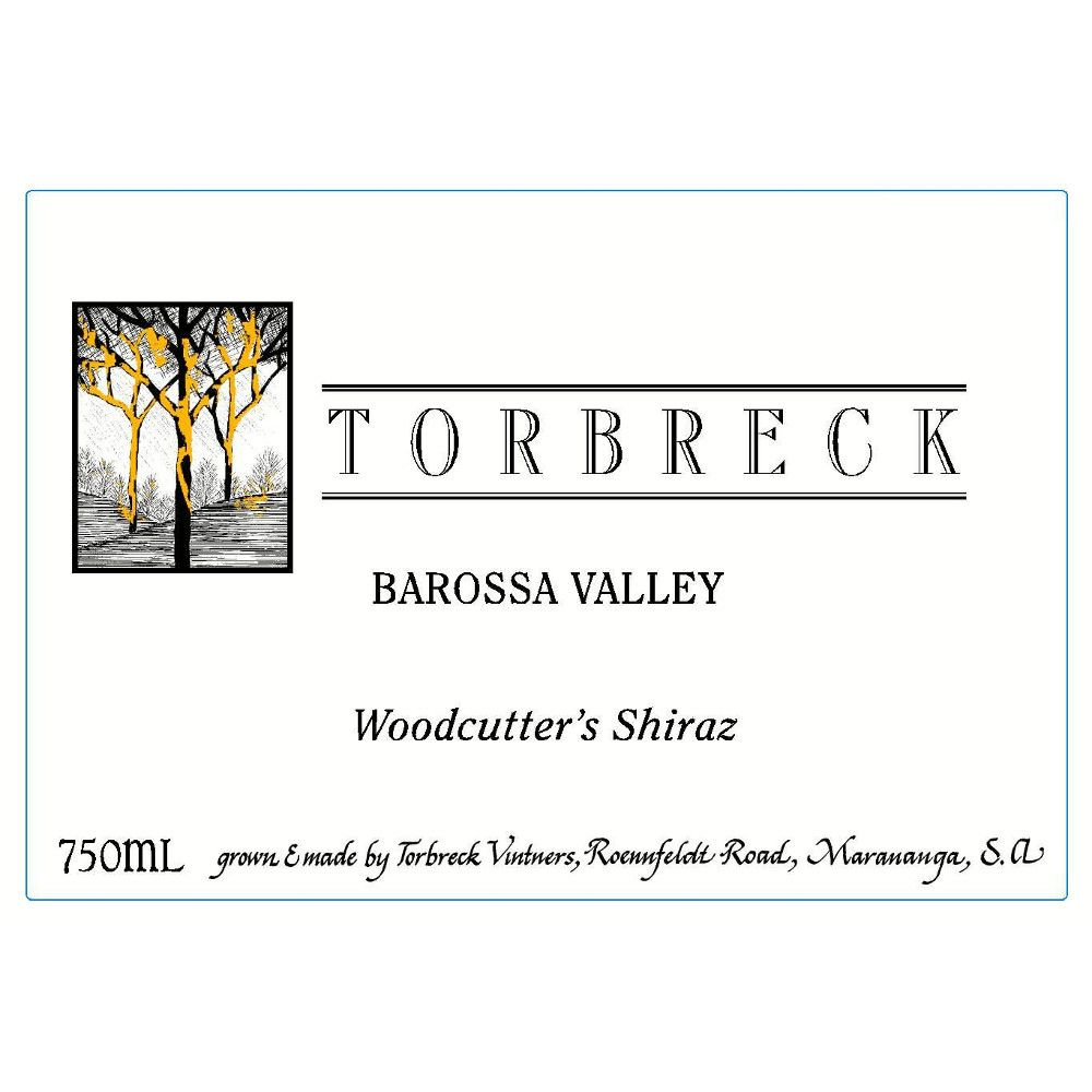 Torbreck Woodcutters Shiraz 2006 Front Label