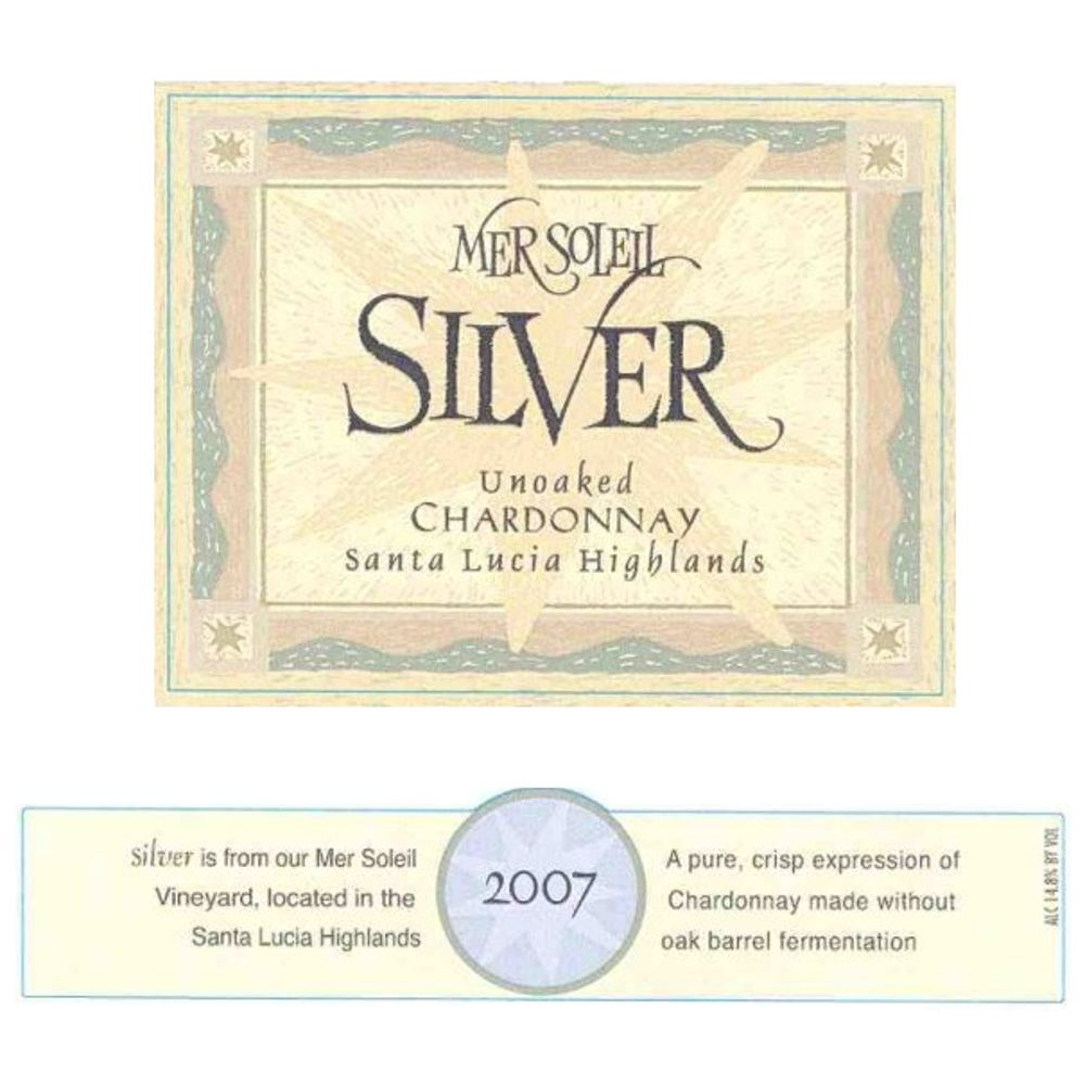 Mer Soleil Silver Unoaked Chardonnay 2007 Front Label