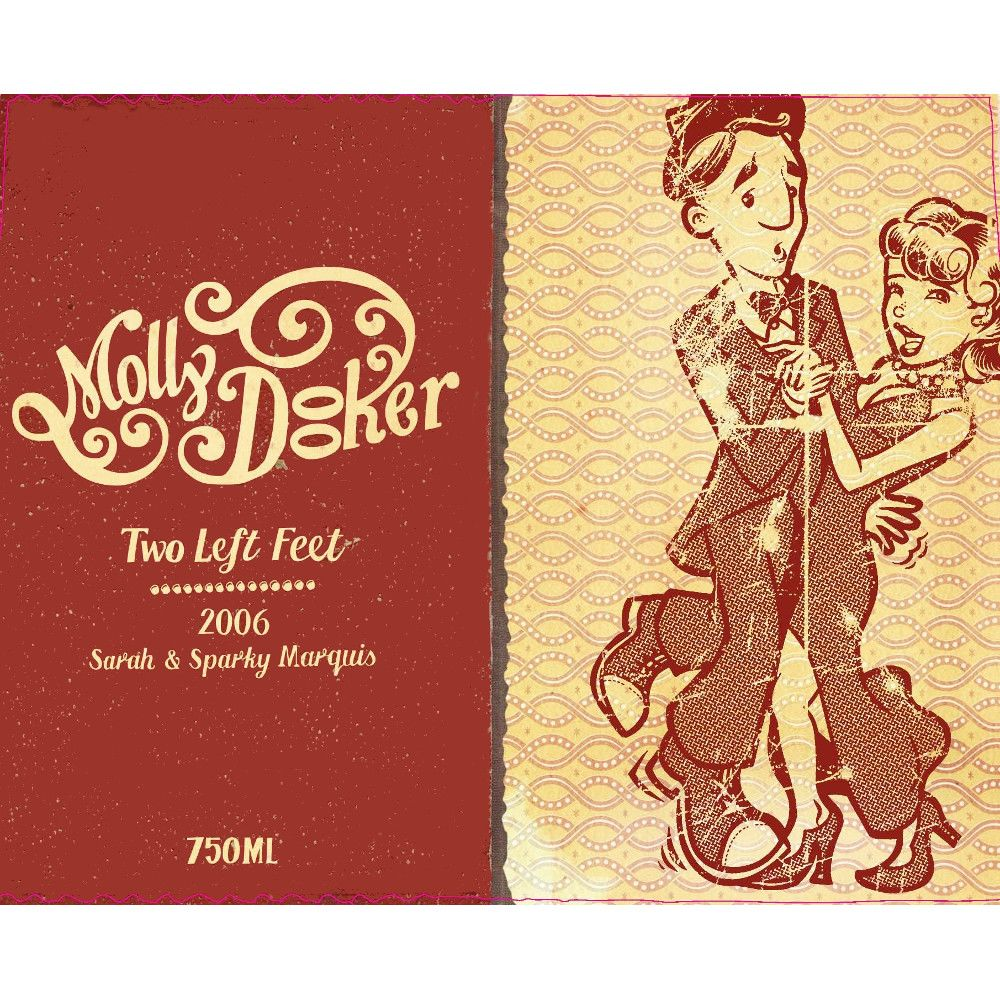 Mollydooker Two Left Feet 2006 Front Label