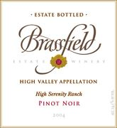 Brassfield Pinot Noir 2004 Front Label